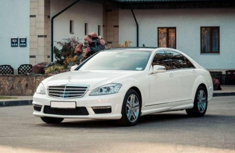 Mercedes S-class (W221) restyling белый